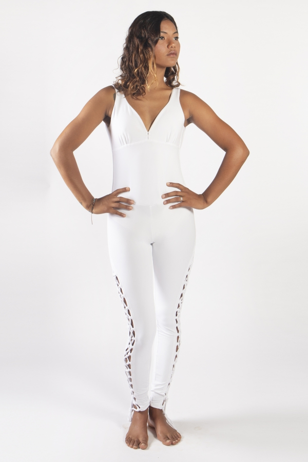 WHITE COSMOS JUMPSUIT